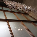 Crystal chandelier designed by architects.