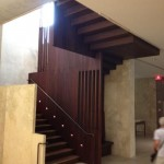 Stairwell leading to lower level.