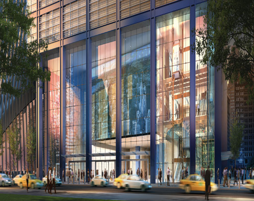Westfield will partner with the Port to lease the podium of Tower Three. (Coutesy Silverstien)