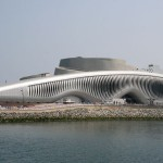 The pavilion sits on Yeosu's redeveloped waterfront (Soma)
