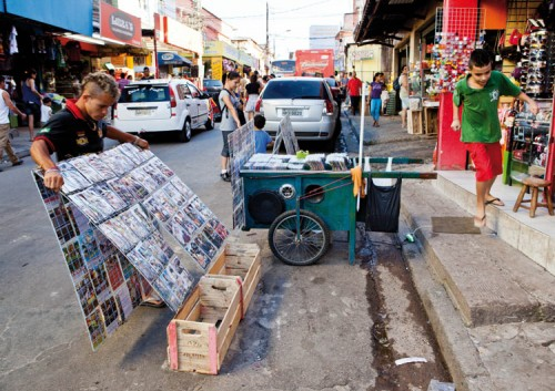 Urban Think Tank considered mobility in terms of small-scale interventions, like this vendor in Sao Paolo. (Courtesy Audi/Urban Think Tank)
