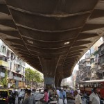 "Architects participating in Audi's Urban Future Initiative are considering what ""mobility"" might look like in cities in the future. Above, an underpass in Mumbai."