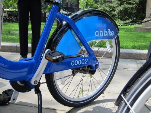 A detail of the new CitiBikes. (Branden Klayko / AN)