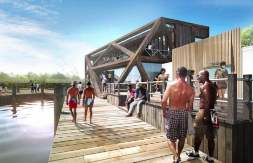 Just in time for Memorial Day, renderings! (Courtesy Fire Island Historical Preservation Society)