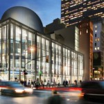 A rendering of the completed transit center (Grimshaw Architects)