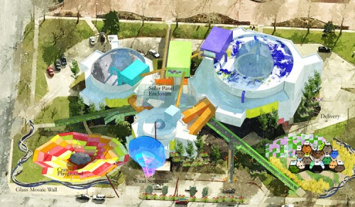 Proposal for a Childrens Museum at Mummers Theater. (Courtesy of Farooq S. Karim)