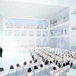 OMA's design for a 650-seat theater at the Marina Abramovic Institute for the Preservation of Performing Arts in Hudson, New York. (Courtesy OMA)
