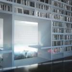 The library at the Marina Abramovic Institute. (Courtesy OMA)