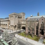 Yale University Art Gallery (left to right: Louis Kahn building, Old Yale Art Gallery building, Street Hall). (Christopher Gardner)