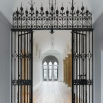 Yale University Art Gallery, Old Yale Art Gallery building, view of the restored Yellin Gates. (Christopher Gardner)