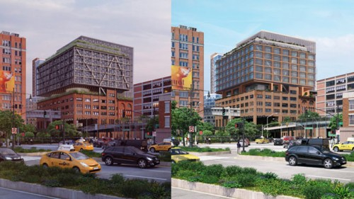 Before and after images of Chelsea Market latest expansion proposal.