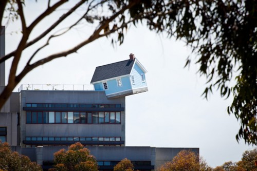Yes, that is a cottage hanging off the side of a building. (courtesy UCSD)