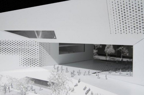 """At the center of MÉCA is the """"urban room"""" a public space for public performances and art installations. (Courtesy BIG)"""