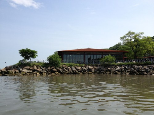 The new La Marina riverfront cafe in Inwood, Manhattan is exected to open by July.