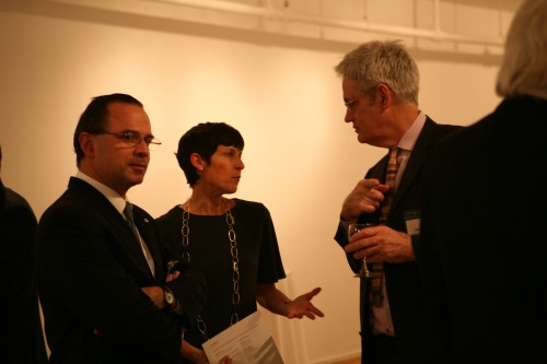 Parks Commissioner Adrian Benepe with Van Alen's Abby Hamlin and AN exec editor Bill Menking in January, 2011. (AN/Stoelker)