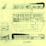 Sketch of the Neugebauer House, courtesy Richard Meier and Partners