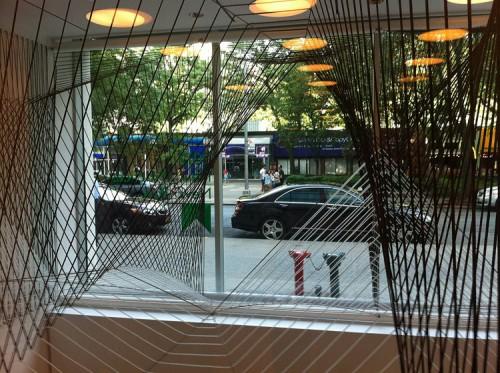 Abruzzo Bodziak's window installation at the Center for Architecture. (Branden Klayko / AN)