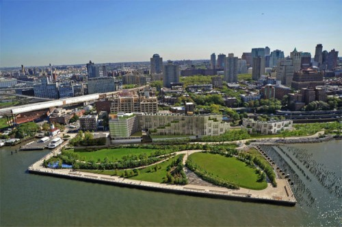 Rogers Marvel-designed mixed-use building in Brooklyn Bridge Park. (Courtesy Rogers Marvel)
