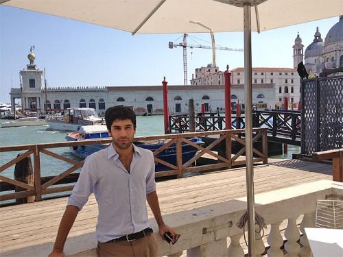 Former AN Associate Editor Jaffer Kolb in Venice.