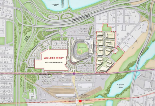 Willets Point Plan released by the Mayor's Office.