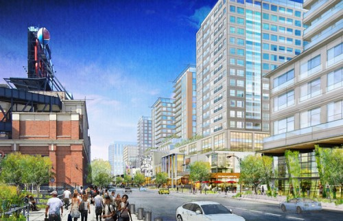The 126th Street corridor north of Citifield will be home to the hotel and more retail.