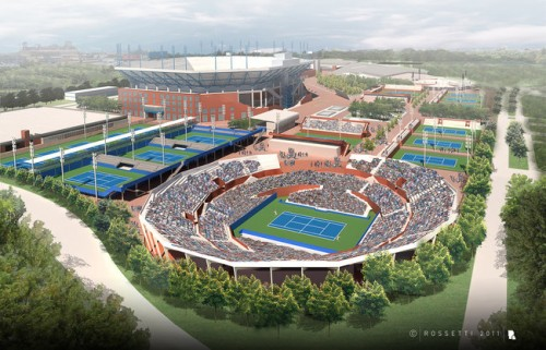 The proposed Grand Stand Court at the National Tennis Center (Courtesy Rossetti).