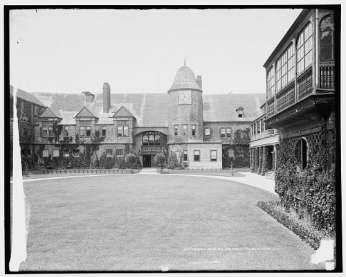 The Grand Poobah of tennis clubs and McKim Mead and White's first collaboration, the Newport Casino. (Courtesy Library of Congress)