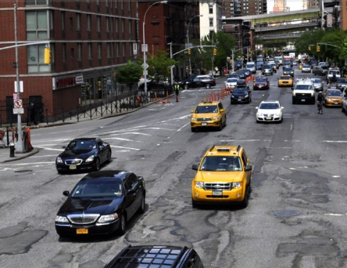 Though 9th Avenue in Chelsea features a Complete Street, the area near the Port Authority Bus Terminal remains a bit chaotic.