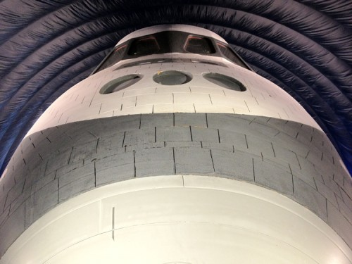 The nose of the Space Shuttle Enterprise. (AN/Stoelker)
