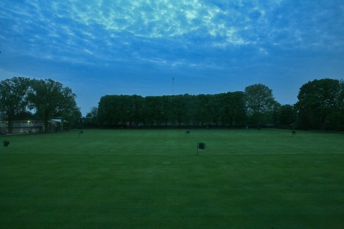 The courts at the Germantown Cricket Club at dusk. (AN/Stoelker)