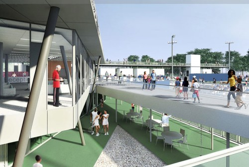 Construction of the Cary Leeds Center for Tennis and Learning, Bronx: A Project of the Department of Parks & Recreation and the New York Junior Tennis League; Peter Gluck and Partners, Architects