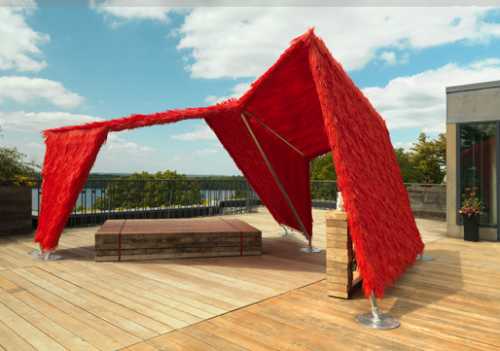 """Jean Shin and Brian Ripel's """"Tea House"""" is at the DeCordova sculpture park through the fall (Courtesy Clements Photograph and Design)"""