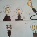 Concept sketched for the Alva lamp. (Courtesy Luke Anderson)