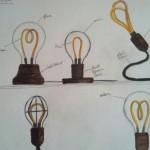 Concept sketched for the Alva lamp. (Courtesy Luke Anderson)