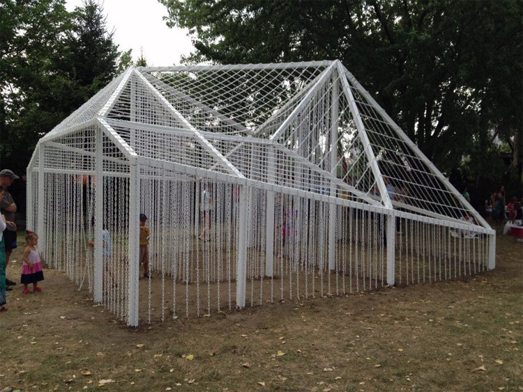 On View> Garden Folly Installation Opens At Socrates Sculpture
