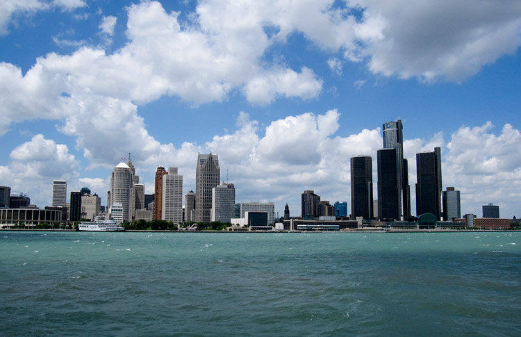 Detroit, on the water. (Image courtesy Bernt Rostad via Flickr.)