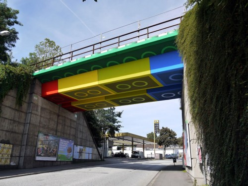 A Lego-bridge in Germany by MEGX. (Rolf Busch/Courtesy MEGX)