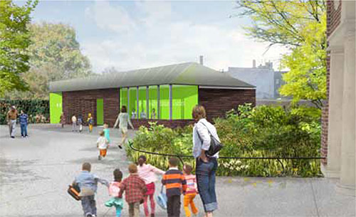 Reconstruction of the Flatbush Avenue Entrance and Terrace Café, Brooklyn: A Project of the Department of Cultural Affairs, the Department of Parks & Recreation, and the Brooklyn Botanic Garden; Michael Van Valkenburgh Associates, Architecture Research Office