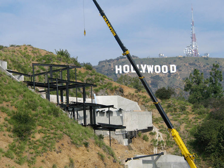 A N Blog Slideshow Gt Hollywood Hills Construction Defies