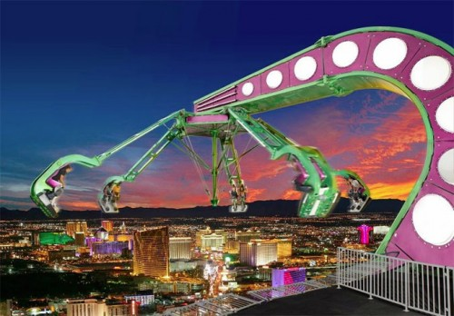 A death-defying ride atop the Stratosphere tower in Las Vegas. (Courtesy Stratosphere)