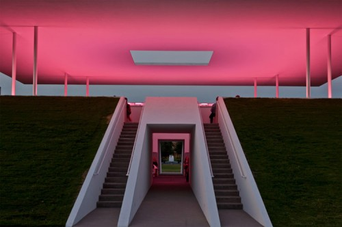 The light sequences, designed by Turrell, vary depending on the weather and season. (Courtesy of Rice University)
