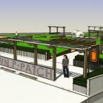 A rendering of UpGarden's rooftop farm in Seattle. (Courtesy UpGarden P-Patch)