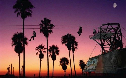 Venice Zip Line rendering. (Courtesy Hans Walor)