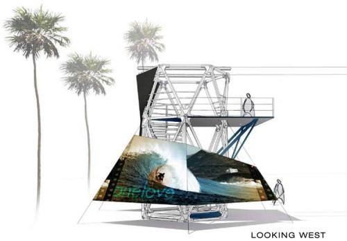 Venice Zip Line rendering. (Courtesy Hans Walor)