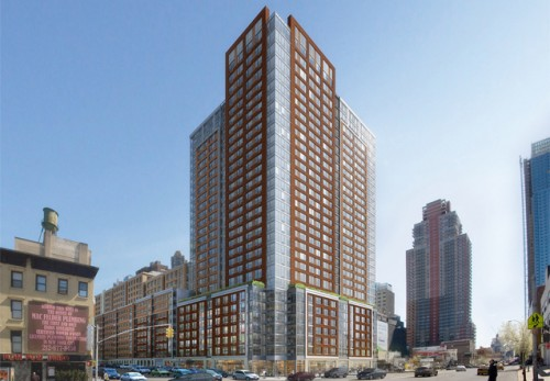 Gotham West, a massive rental rising Eleventh and 44th takes panels to new heights.