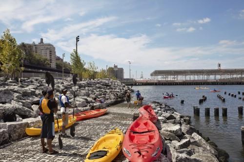 The MVVA design take rip rap pavers to the river's edge. (Courtesy Elizabeth Felicella)