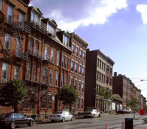 Brownstones in Pendleton, a neighborhood in downtown Cincinnati. (Wikimedia Commons)