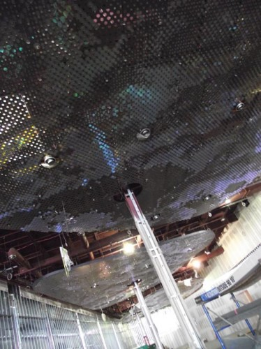 Ceiling treatments inside the casino are already installed. (Stoelker/AN)