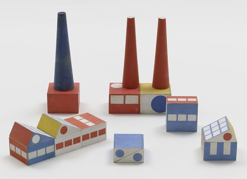 Ladislav Sutnar's Prototype for Build the Town Building Blocks, 1940-43. (Courtesy MoMA)