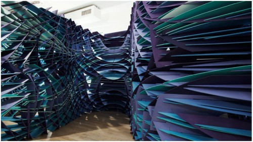 Slipstream installation at the Bridge Gallery in New York by FreelandBuck. (Courtesy FreelandBuck)